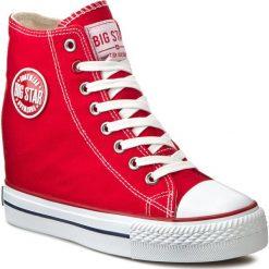 Sneakersy BIG STAR - U274905 Red. Czerwone sneakersy damskie BIG STAR, z gumy. Za 99,00 zł.