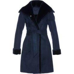 Płaszcze damskie: Płaszcz ze sztucznej skóry bonprix ciemnoniebieski