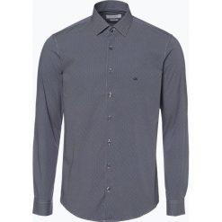 Calvin Klein - Koszula męska, niebieski. Pomarańczowe koszule męskie marki Calvin Klein, l, z bawełny, z okrągłym kołnierzem. Za 349,95 zł.