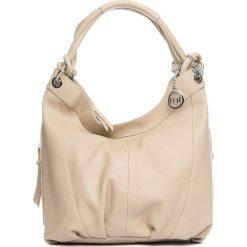 Torebki klasyczne damskie: Skórzana torebka w kolorze szarobrązowym – 30 x 31 x 13 cm