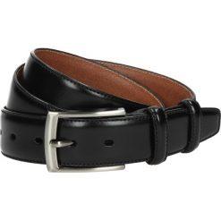 Pasek ps12 czarny k10 z obszyciem 3,5. Czarne paski męskie Recman, w paski, z jeansu, eleganckie. Za 49,99 zł.