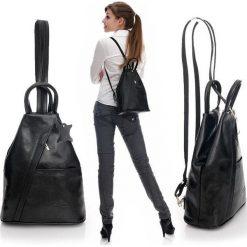 46147ff7f5e1f Modny plecak damski czarny MORENA CLASSIC. Czarne plecaki damskie Vera  Pelle, w paski, ...