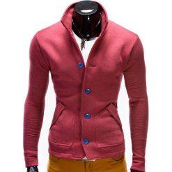 Bluzy męskie: BLUZA MĘSKA ROZPINANA BEZ KAPTURA CARMELO – CZERWONA