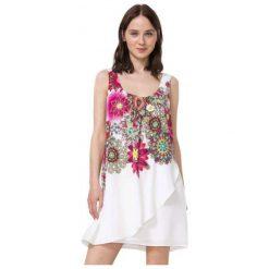 Sukienki: Desigual Sukienka Damska Corvus 42 Biały