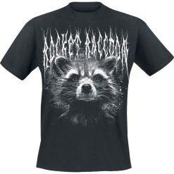 T-shirty męskie: Guardians Of The Galaxy 2 - Black Metal Rocket T-Shirt czarny