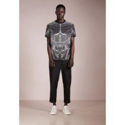 T-shirty męskie: Neil Barrett BLACKBARRETT TOPOGRAPHY Tshirt z nadrukiem black/white