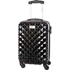 Walizka w kolorze czarnym - 36 l. Czarne walizki Bagstone & Travel One, z materiału. W wyprzedaży za 199,95 zł.