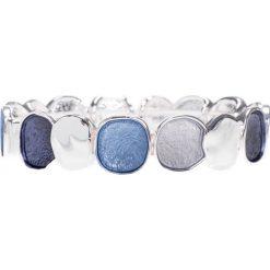 Bransoletki damskie: Szaro-niebieska srebrna bransoletka QUIOSQUE