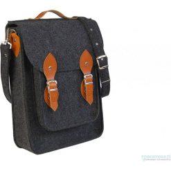 Torby na ramię męskie: Filcowa torba na laptop personalizowa – grawer