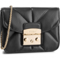 Torebka FURLA - Metropolis 993655 B BUT0 2Q0 Onyx. Czarne torebki klasyczne damskie marki Furla, ze skóry. Za 1520,00 zł.