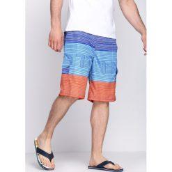 Spodenki i szorty męskie: Niebiesko-Pomarańczowe Szorty Liberate