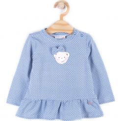 Koszulka. Niebieskie bluzki dziewczęce bawełniane marki bonprix, z długim rękawem, długie. Za 19,90 zł.