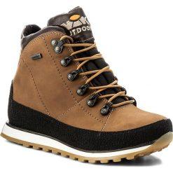 Trekkingi NIK - 08-0185-00-0-03-00 Jasny Brąz. Brązowe buty zimowe damskie Nik, z materiału. W wyprzedaży za 249,00 zł.
