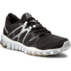 Buty Reebok - Realflex Train 4.0 BD5044 Black/White/Gum. Szare buty do fitnessu damskie marki Reebok, z materiału. W wyprzedaży za 189,00 zł.