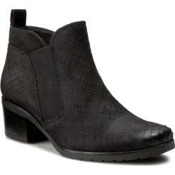 Botki CAPRICE - 9-25359-37 Black Nubuc 008. Czarne buty zimowe damskie marki Caprice, z nubiku. W wyprzedaży za 279,00 zł.