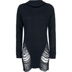 Bluzy rozpinane damskie: Vixxsin Slit Neck Decay Jumper Bluza damska czarny