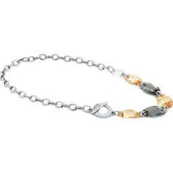 Naszyjniki damskie: Naszyjnik w kolorze srebrnym z kryształami Swarovski – (D)51,5 cm