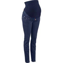 Spodnie ciążowe SKINNY bonprix ciemnoniebieski. Niebieskie spodnie ciążowe marki bonprix, w paski, z dżerseju. Za 119,99 zł.