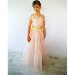 GABRIELA MINI długa tiulowa sukienka różowa. Czerwone sukienki dziewczęce z falbanami Pakamera, z tiulu, z długim rękawem, długie. Za 181,00 zł.