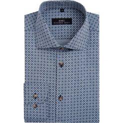Koszula RICCARDO 16-08-05-K. Szare koszule męskie na spinki Giacomo Conti, m, w geometryczne wzory, z bawełny, z włoskim kołnierzykiem. Za 229,00 zł.