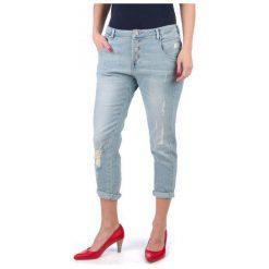 Mustang Jeansy Damskie New Tapered 27/32 Niebieski. Niebieskie jeansy damskie marki Mustang, z aplikacjami, z bawełny. W wyprzedaży za 225,00 zł.