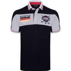 """Koszulki polo: Koszulka polo """"Woods"""" w kolorze czarno-szarym"""