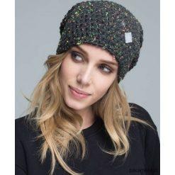 Czapka dziana KRAFF GREY @14 handmade. Szare czapki zimowe damskie Pakamera, z dzianiny. Za 109,00 zł.