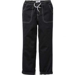 Odzież chłopięca: Spodnie chino z elastycznym paskiem bonprix czarny