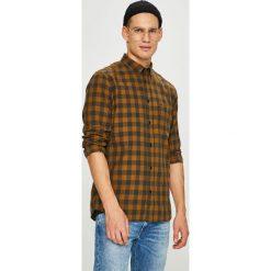 Wrangler - Koszula. Brązowe koszule męskie na spinki Wrangler, l, w kratkę, z bawełny, button down, z długim rękawem. Za 219,90 zł.