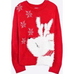 Blukids - Sweter dziecięcy 98-128 cm. Fioletowe swetry dziewczęce marki OLAIAN, z elastanu, sportowe. W wyprzedaży za 59,90 zł.