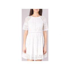 Sukienki krótkie Derhy  CAHIER. Białe sukienki hiszpanki Derhy, l, z krótkim rękawem, mini. Za 375,20 zł.