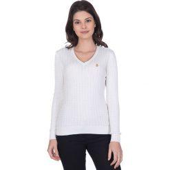 """Swetry klasyczne damskie: Sweter """"Gullane"""" w kolorze kremowym"""