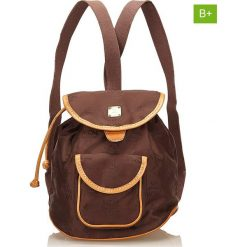 Plecaki damskie: Plecak w kolorze brązowym – 22 x 21 x 15 cm