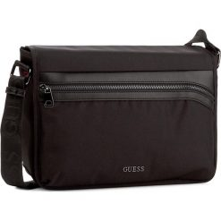 Torba na laptopa GUESS - Global Functional HM6242 NYL74 Black. Czarne plecaki męskie marki Guess, z aplikacjami. W wyprzedaży za 219,00 zł.