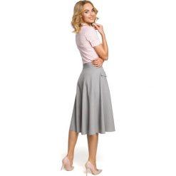 MARQUISE Rozkloszowana spódnica midi z kieszeniami - szara. Szare spódnice wieczorowe marki Moe, s, midi, rozkloszowane. Za 109,99 zł.