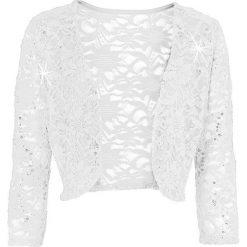 Odzież damska: Bolerko bonprix biel wełny