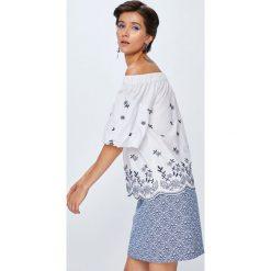 Medicine - Koszula Rustic Indigo. Niebieskie koszule damskie marki MEDICINE, l, z haftami, z bawełny, z krótkim rękawem. W wyprzedaży za 39,90 zł.