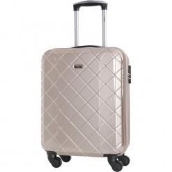 Walizka w kolorze złotym - 40 l. Żółte walizki Bagstone & Travel One, z materiału. W wyprzedaży za 199,95 zł.