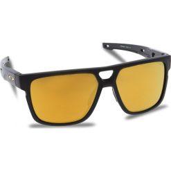 Okulary przeciwsłoneczne OAKLEY - Crossrange Patch OO9382-0460 Matte Black/24k Iridium. Czarne okulary przeciwsłoneczne męskie aviatory Oakley, z tworzywa sztucznego. W wyprzedaży za 549,00 zł.