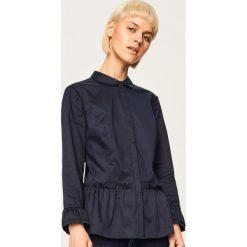 Koszula z baskinką - Granatowy. Niebieskie koszule damskie marki Reserved. Za 59,99 zł.