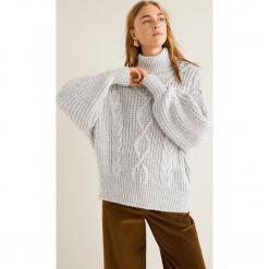 Mango - Sweter Victoria. Szare golfy damskie Mango, l, z dzianiny, z krótkim rękawem. Za 159,90 zł.