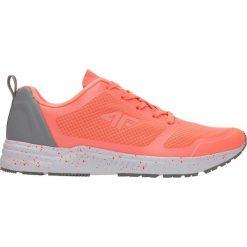Buty sportowe damskie OBDS201Z - koralowy - 4F. Pomarańczowe buty sportowe damskie 4f, z nadrukiem, z gumy. Za 159,99 zł.