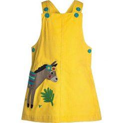 Sukienki dziewczęce letnie: Frugi BABY TILLY PINAFORE DRESS Sukienka letnia sun yellow