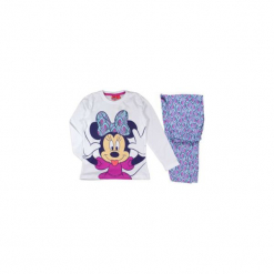 Piżama dziewczęca Myszka Minnie z printem, we wzory. Szare bielizna dziewczęca TXM, z motywem z bajki. Za 29,99 zł.