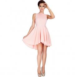 33-1 lacosta - ekskluzywna sukienka z dłuższym tyłem - brzoskwinia. Pomarańczowe sukienki z falbanami marki numoco, l, w kwiaty, z dekoltem w łódkę, oversize. Za 134,00 zł.