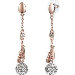 Biżuteria i zegarki: Pozłacane kolczyki-wkrętki z kryształkami Swarovski