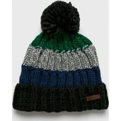 Barts - Czapka. Czarne czapki zimowe męskie marki Barts, na zimę, z dzianiny. W wyprzedaży za 99,90 zł.