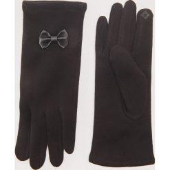 Rękawiczki z kokardkami - Czarny. Czarne rękawiczki damskie House. Za 29,99 zł.