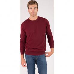 Kaszmirowy sweter w kolorze bordowym. Niebieskie swetry klasyczne męskie marki GALVANNI, l, z okrągłym kołnierzem. W wyprzedaży za 304,95 zł.