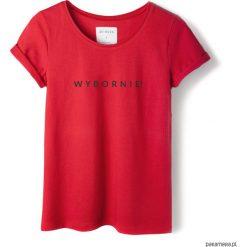 Bluzki, topy, tuniki: T-shirt czerwony WYBORNIE!